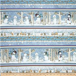 Snow Babies Flannel Stripe Blue