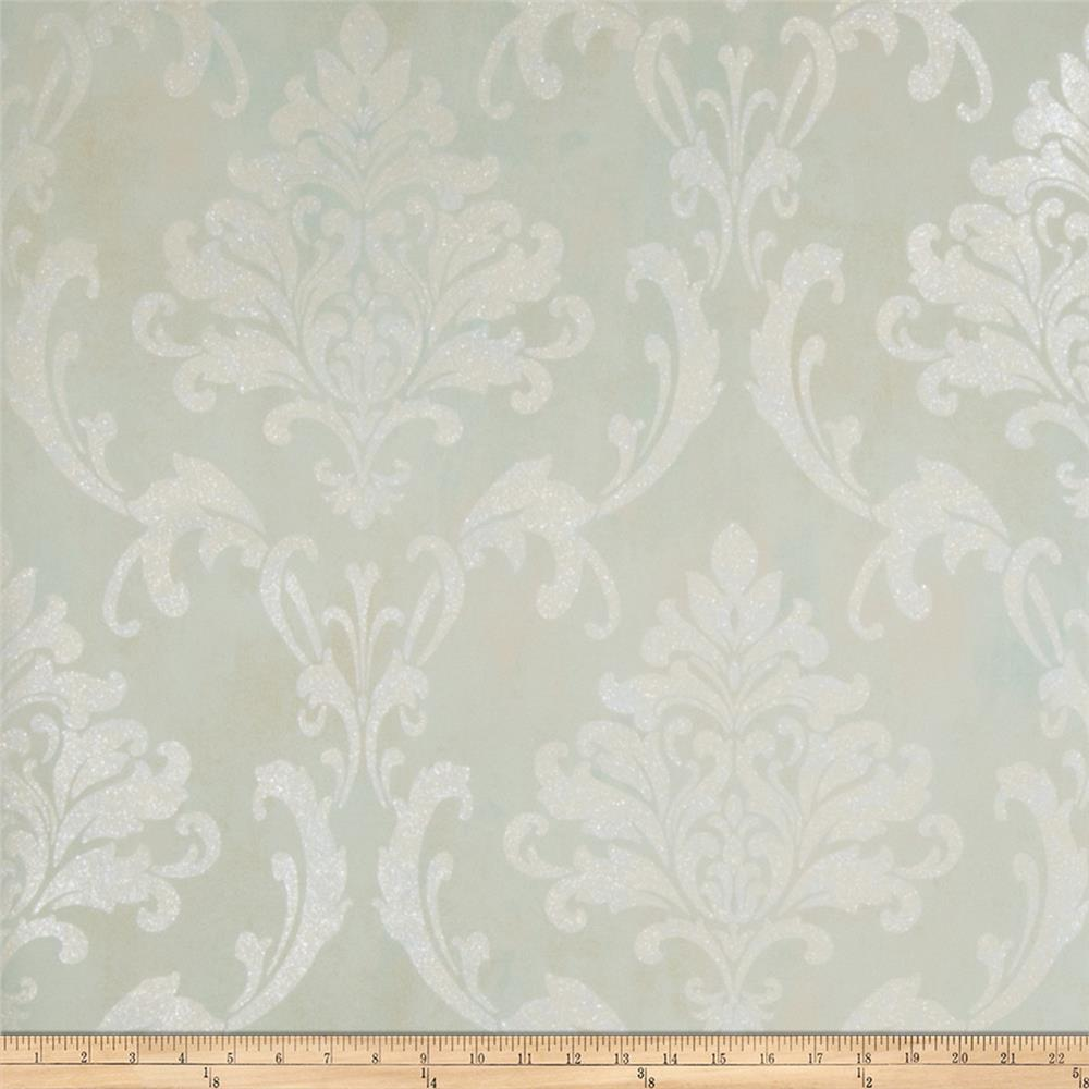 Fabricut Meryl Wallpaper Opal (Double Roll)