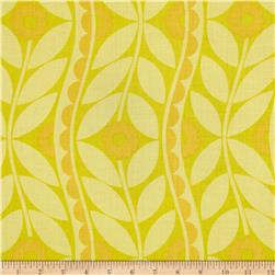 Sweet Lady Jane Brocade Yellow Fabric