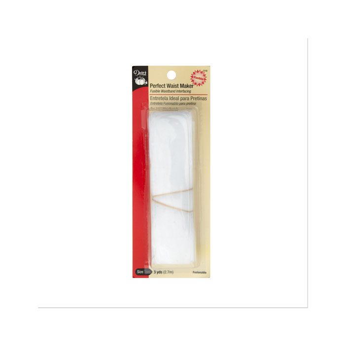 Perfect Waist Maker Fusible Interfacing 1 1/4'' x 3 Yard by Notions Marketing in USA