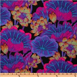 Kaffe Fassett Lake Blossoms Black