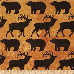 Elk Mountain Toss Animals Caramel