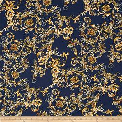 Fashion Printed Denim Damask Flourish