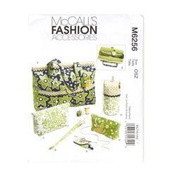 McCall's Project Tote, Organizer/Knitting Needle/Scissor Cases And Yarn Holder Pattern M6256 Size OSZ
