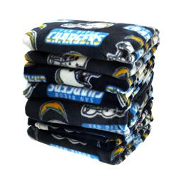 Three Pound NFL Fleece Remnant Bundle San Diego Chargers