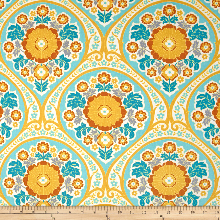 Joel Dewberry Atrium Grace Mint Fabric by Westminster in USA