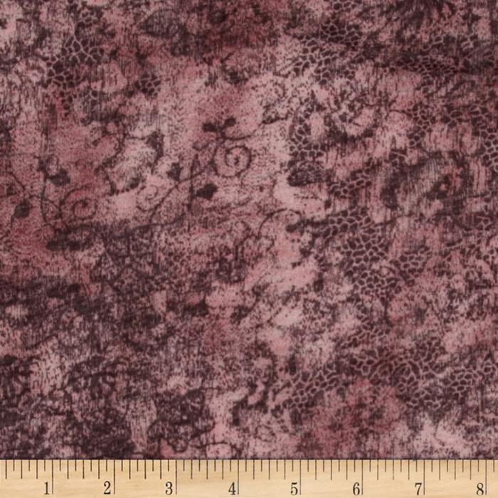 Onion Skin Knit Distress Floral Maroon