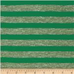 Yarn Dyed Hatchi Knit Stripe Green