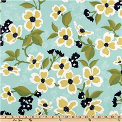 Joel Dewberry Modern Meadow Dogwood Bloom Pond Fabric