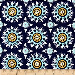 Riley Blake Lulabelle Medallion Navy