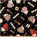 Timeless Treasures Holiday Treats Multi/Black