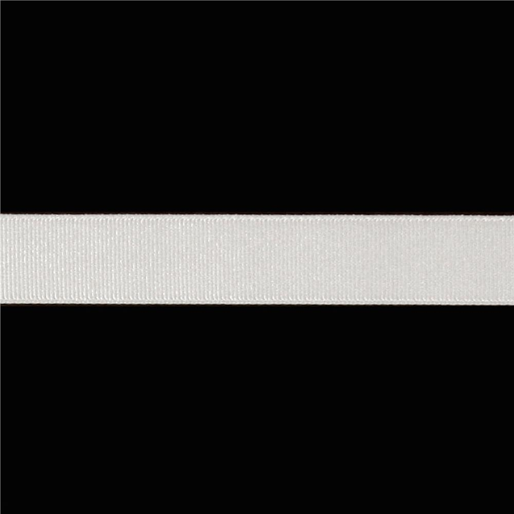"May Arts 3/4"" Grosgrain Ribbon Spool White"