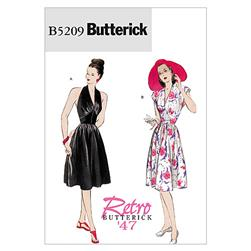 Butterick Misses' Dress Pattern B5209 Size AA0
