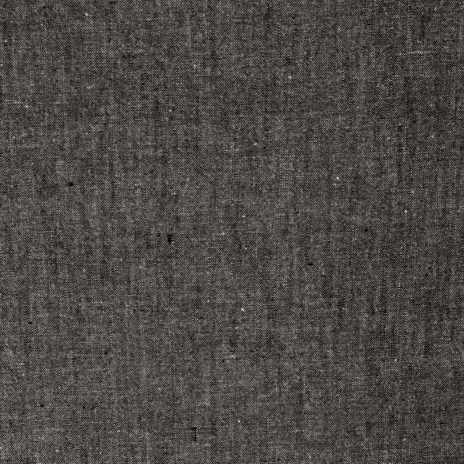Luminary Yarn Dyed Chambray Black/White Fabric by Textile Creations in USA