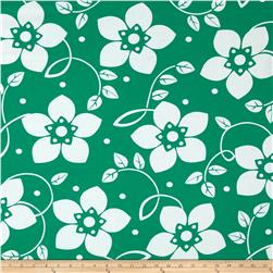 Contempo Brigitte Large Bloom White/Emerald