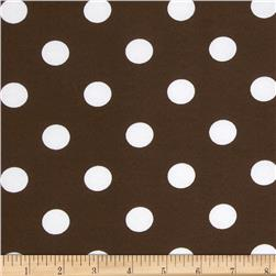 Printed Broadcloth Large Polka Dot Brown/White