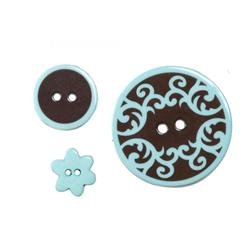 Bluementhal Buttons Blue/Chocolate