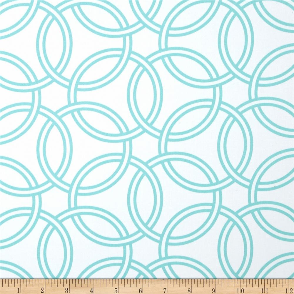 Michael Miller Bekko Home Decor Swirl Turquoise