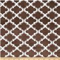 Minky Moroccan Tile Brown