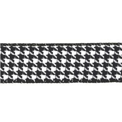 1 1/2'' Houndstooth Nylon Edge Ribbon Black