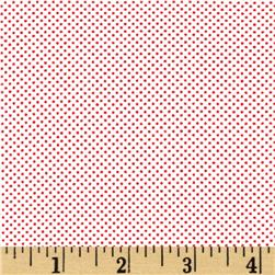 Moda Dottie Tiny Dots White/Red