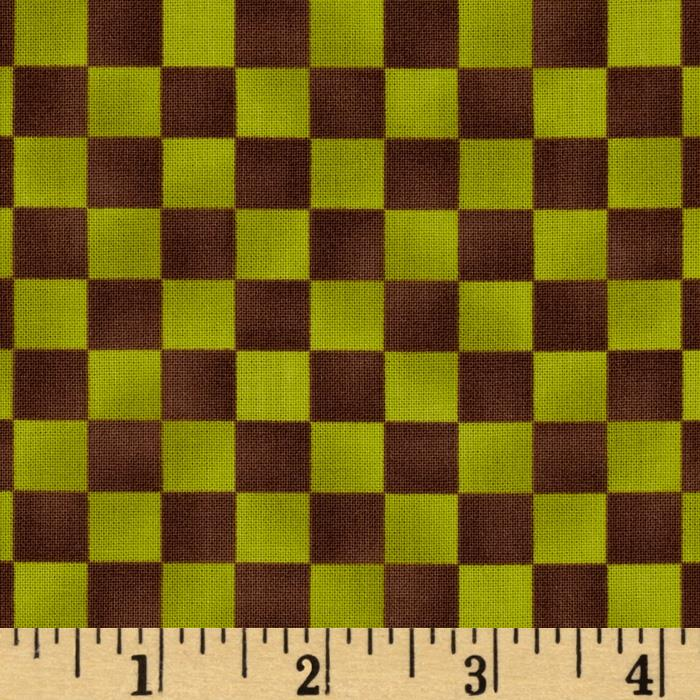 Graphix Checkered Lime Brown