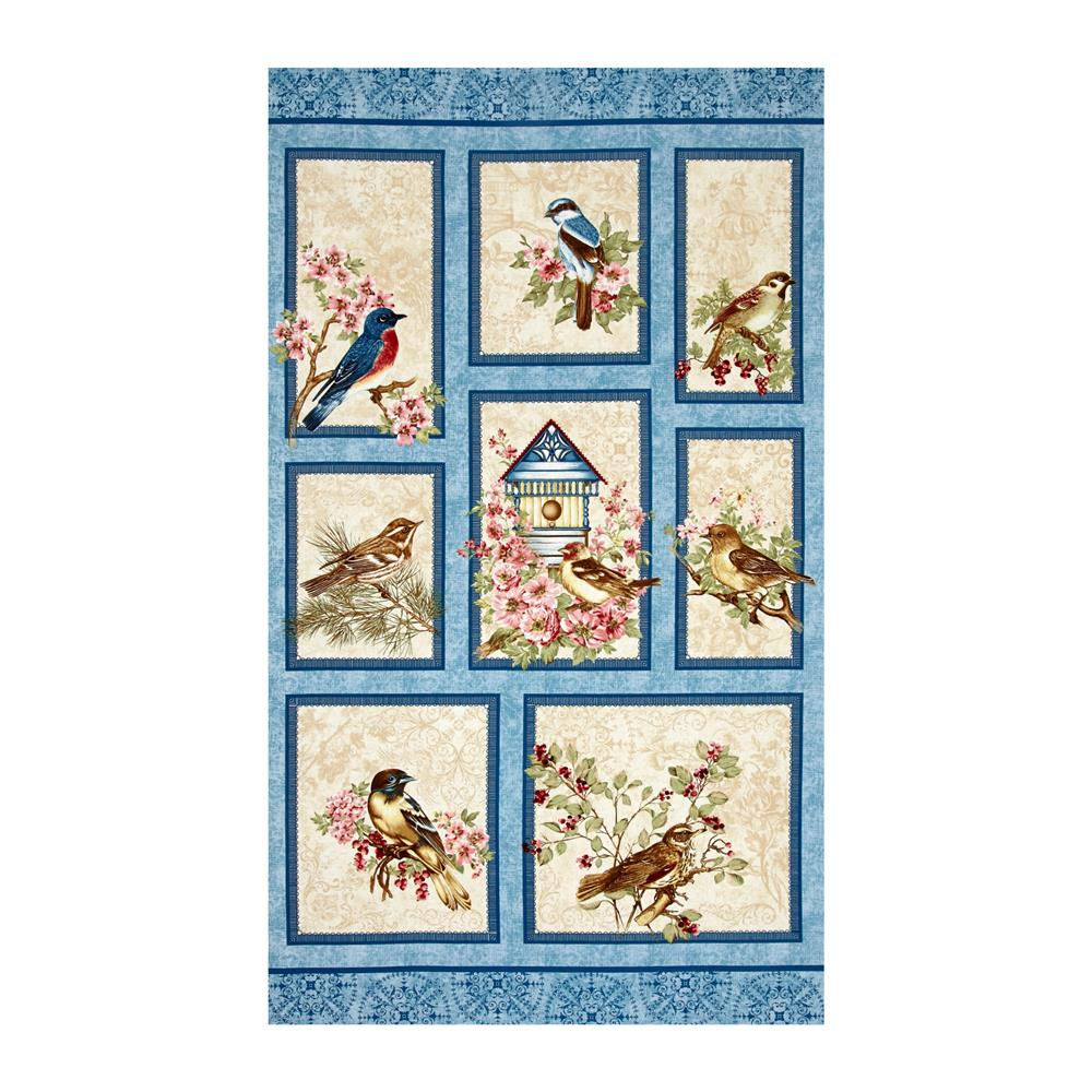 Birds Of A Feather 24 In. Panel Multi