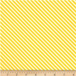 Moda Dot .Dot.Dash-! Diagonal Stripe Yellow