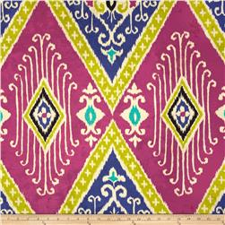 Iman Home Ikat Diamond Antique Velvet Jewel