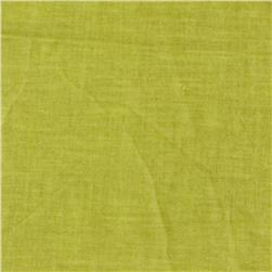 New Aged Muslin Dark Lime Fabric