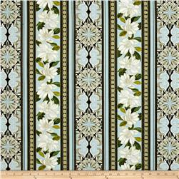 Kanvas Southern Charm Magnolia Stripe Powder Blue