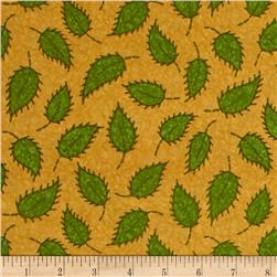 Floral Fancies Leaf Gold/Green