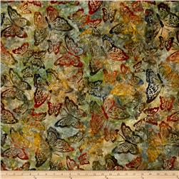 Kaufman Artisan Batiks Enchanted Butterflies Meadow