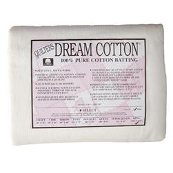 "Quilter's Dream Natural Cotton White Select Batting (122"" x 120"") King"