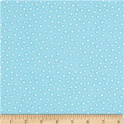 Moda Duck Duck Goose Flannel Dots Blue/White