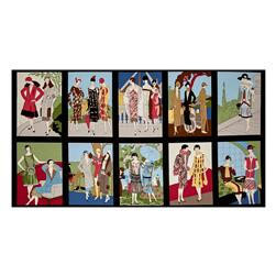 Kaufman Glamour Girls Block Panel Dawn