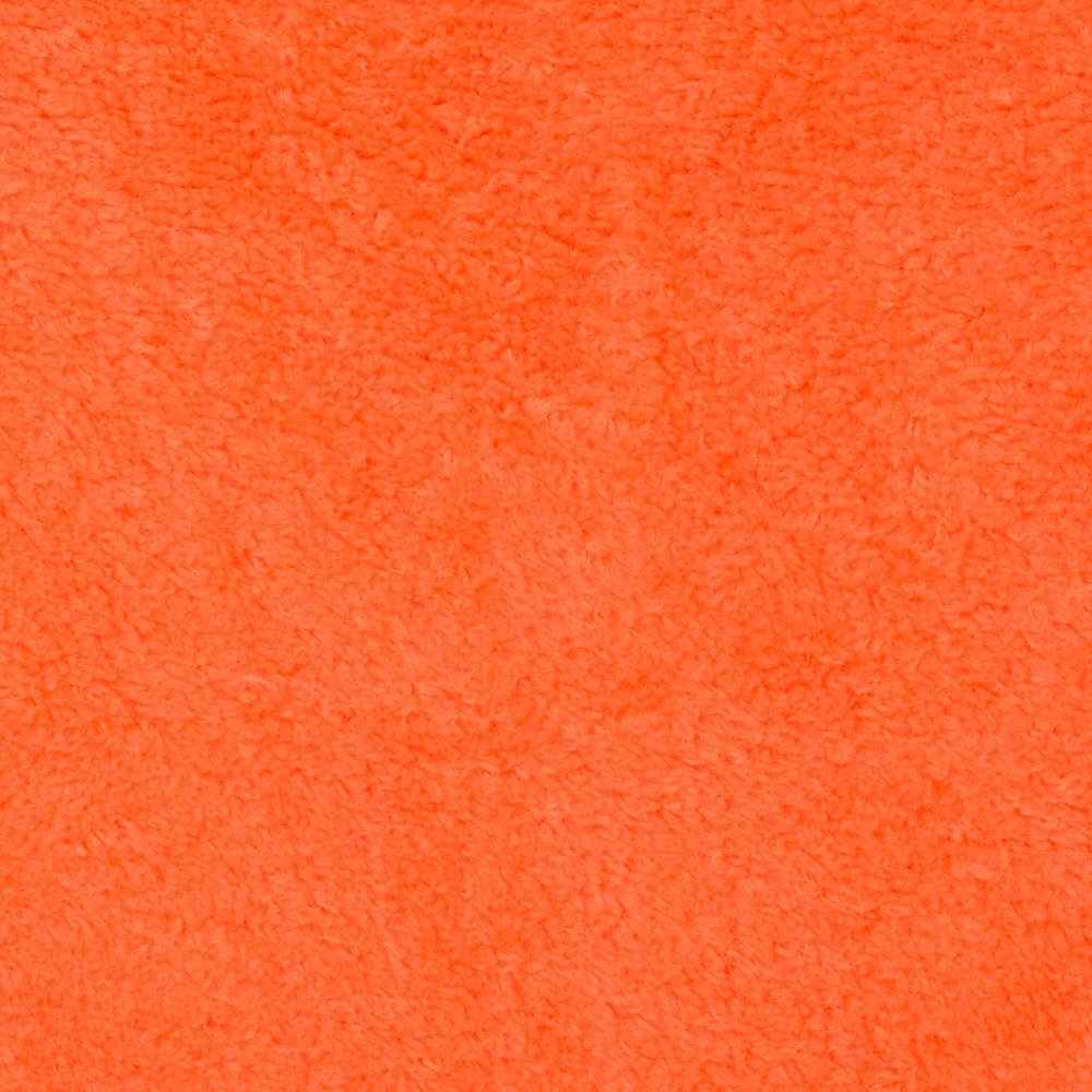 Whisper Coral Fleece Solid Tangerine