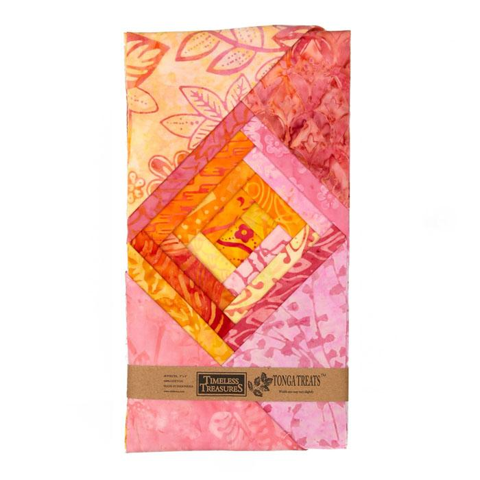 Timeless Treasures Tonga Batik Pink Lemonade 5'' Mini Treat