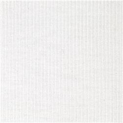 Stretch Cotton Poly Rib Knit Ivory
