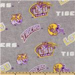 Collegiate Fleece Louisiana State University All Over Heather Grey