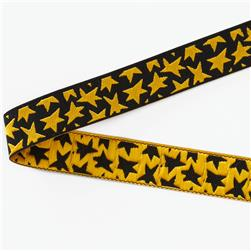 5/8'' Luella Doss Gold Stars On Black Ribbon