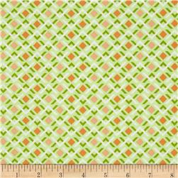 Wishing Well Diamond Geo Green Fabric