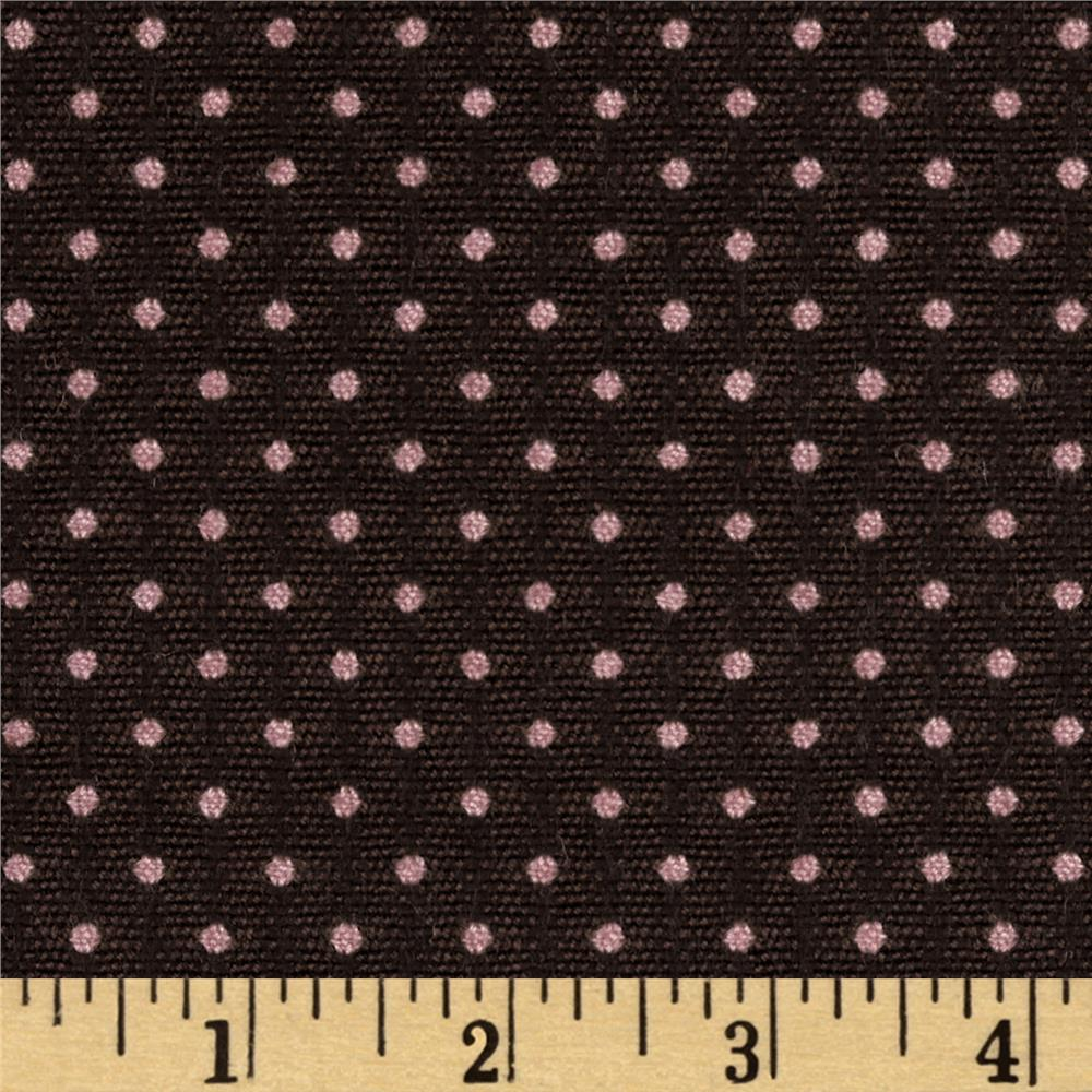 Jacquard Dot Suiting Brown/Pink