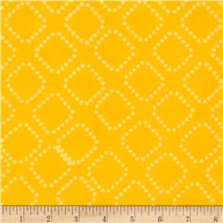 Indah Batiks Dotty Diamonds Lemon