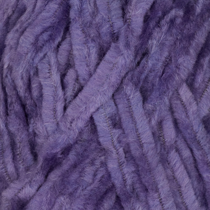 Lion Brand Chenille Yarn (145) Purple Topaz