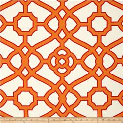 P Kaufmann Indoor/Outdoor Pavilion Fretwork Tangerine Fabric