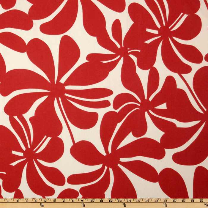 Premier Prints Indoor/Outdoor Twirly American Red Fabric