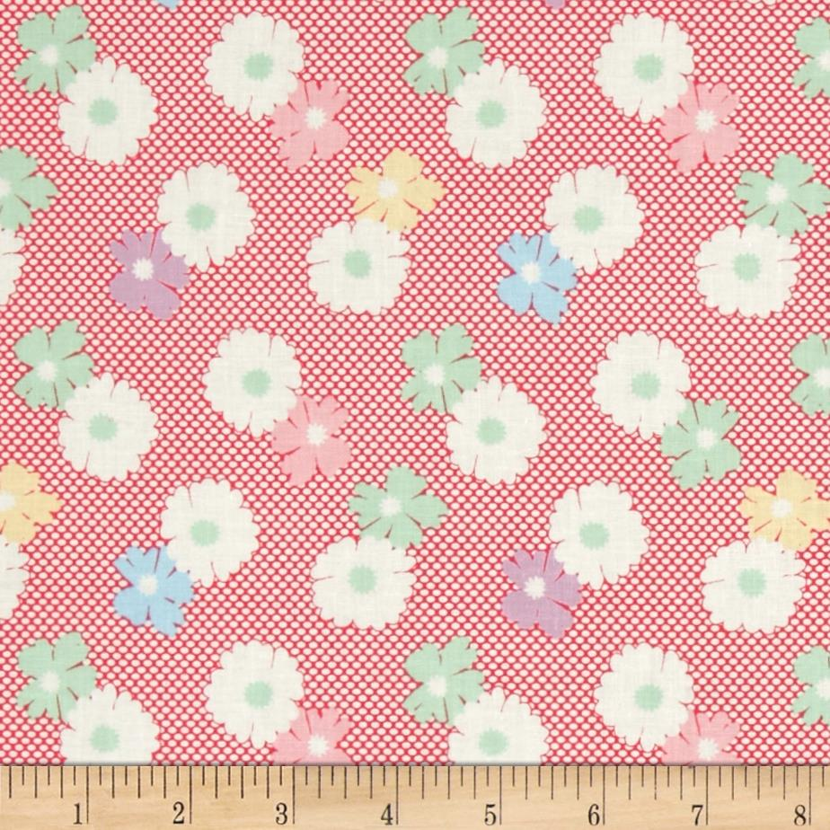 1930's Classics Floral Dot Pink
