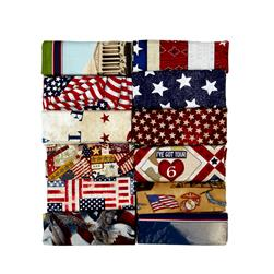 3lb Patriotic Prints Remnant Assortment