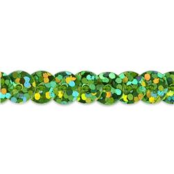 6mm Slung String Sequin Trim 100 yard Roll Lime